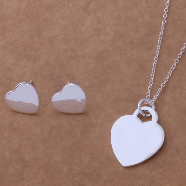 AS155 Hot 925 sterling zilveren Sieraden Sets Earring 162 + Ketting 690/aghaixoa amuajeba