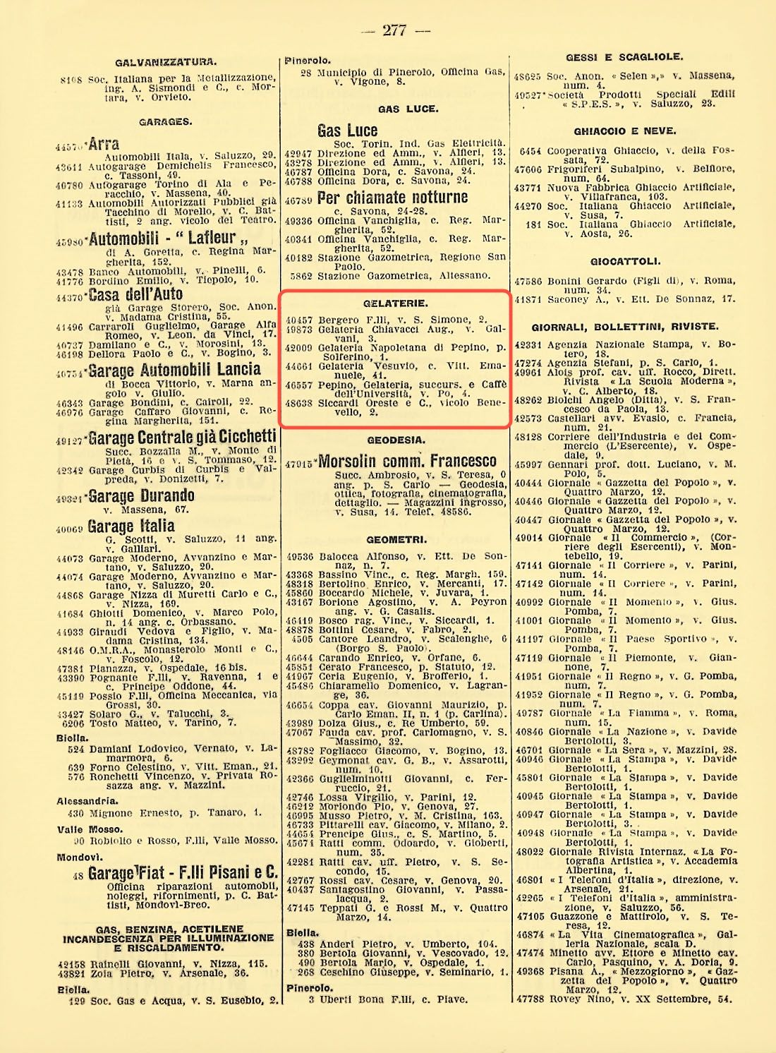 First telephone directory for the category of history Turin 1926 (yellow  pages) - Ice Cream   Yellow pages, Turin, History