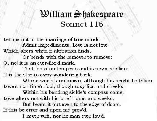 Compare Shakespeare's Sonnet 116 and Sonnet 13