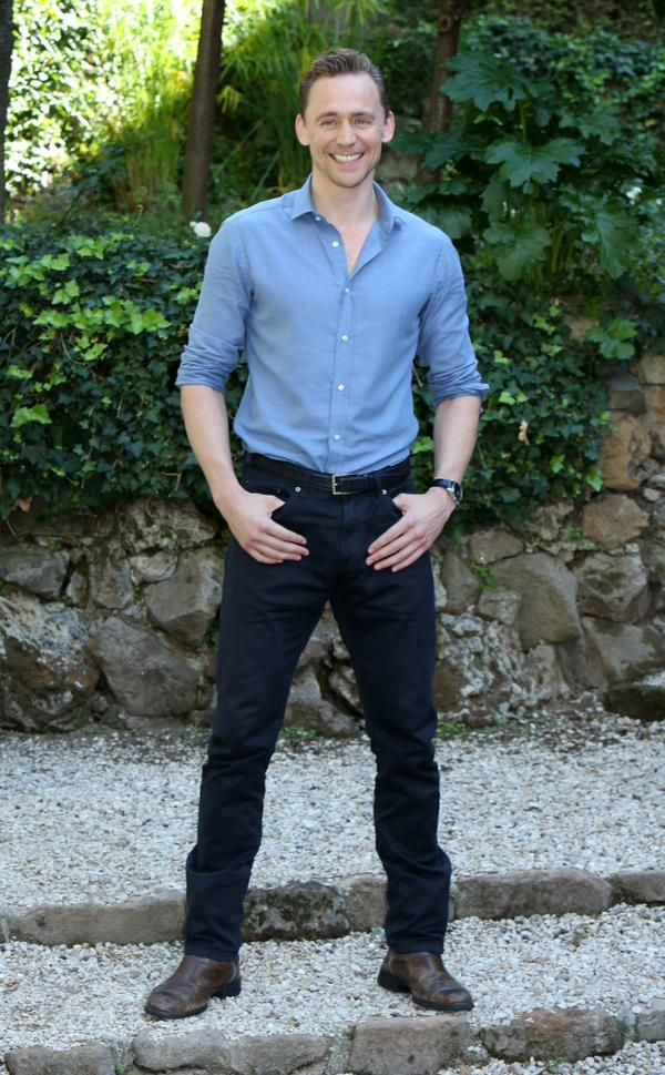 Tom Hiddleston at photo call for #CrimsonPeak at Le Jardin de Russie on Sept. 28, 2015 in Rome, Italy
