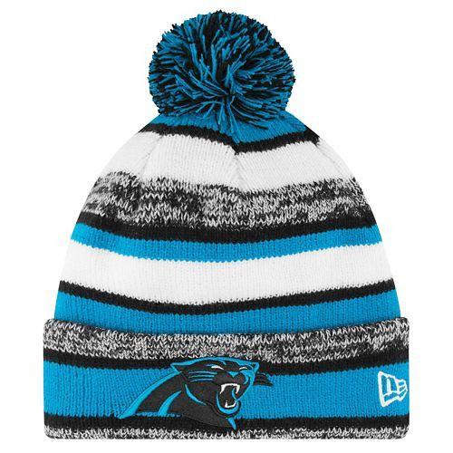 7030d054 discount code for carolina panthers sideline sport knit winter hat ...