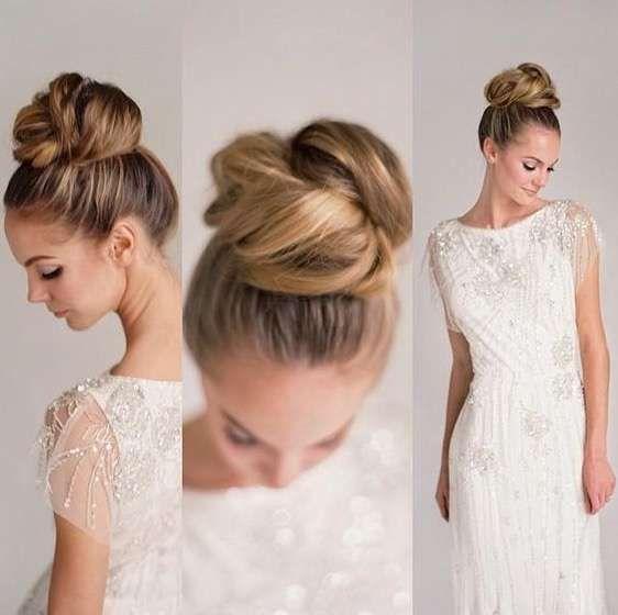 Peinados altos para la novia Fotos de los más elegantes - Peinados