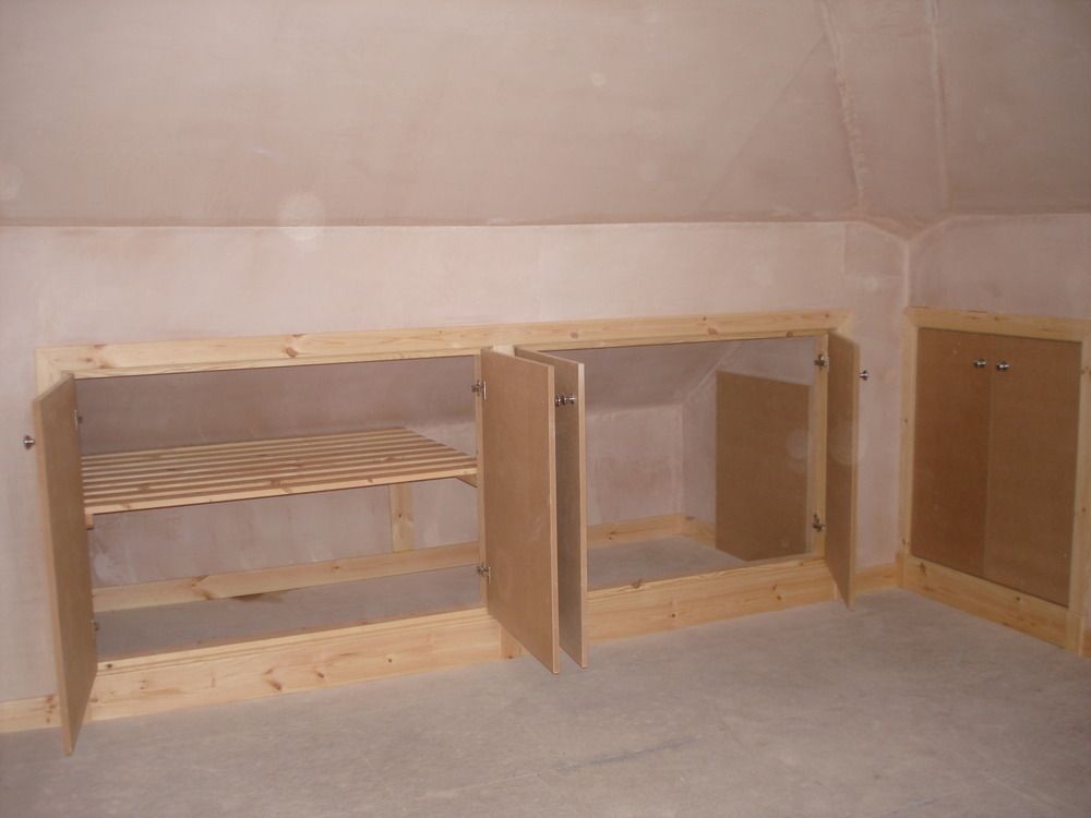 loft conversion storage ideas    Eaves storage