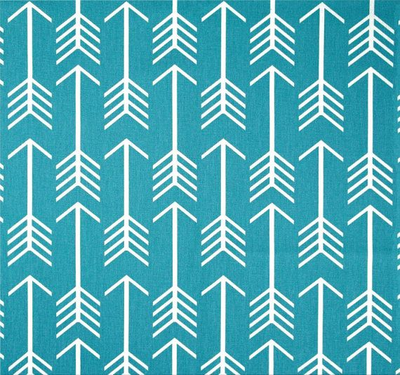 Modern Blue Arrow Fabric By The Yard, Blue Modern Home Decor