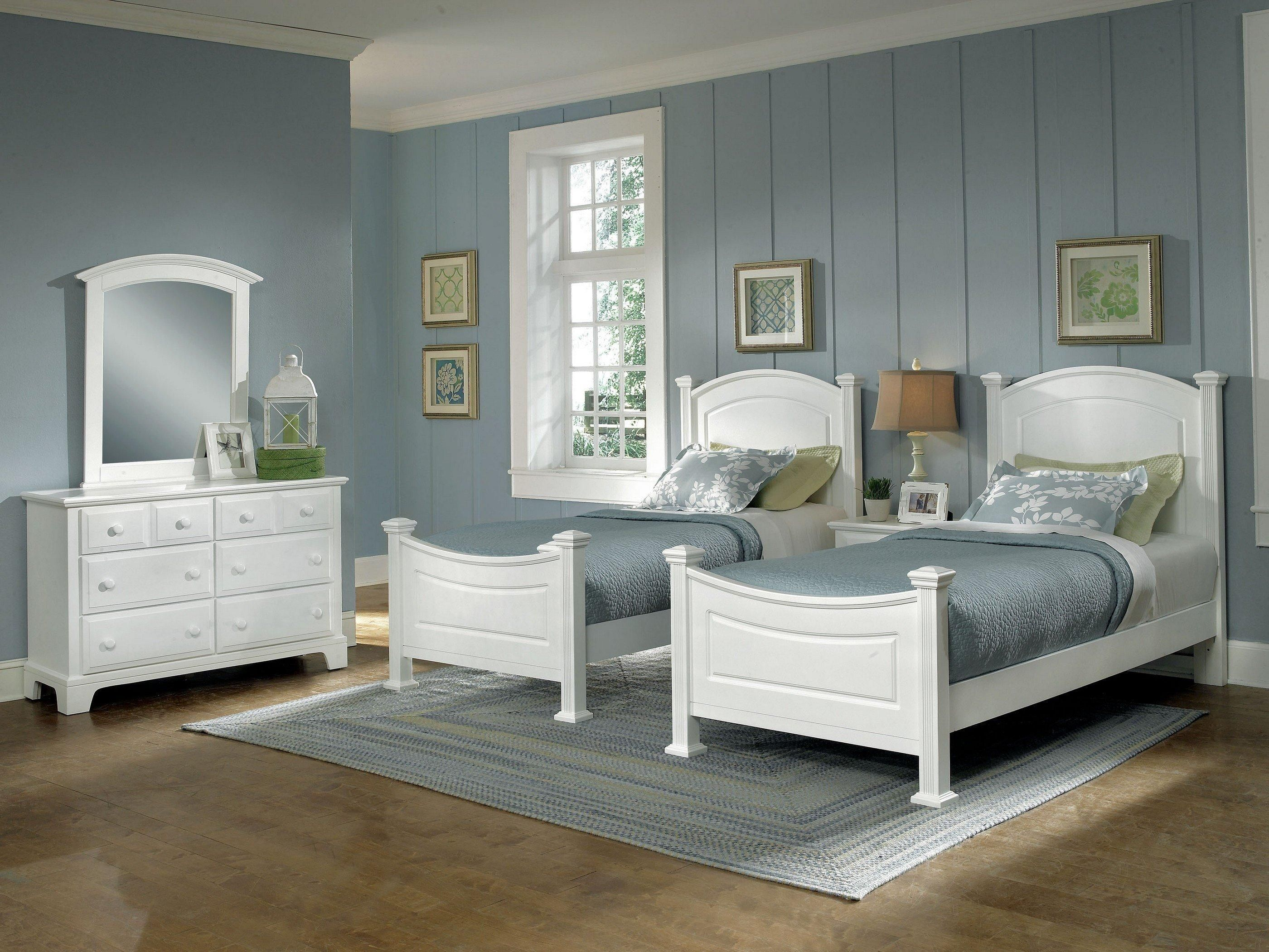 Coastal Living With Bright Whites Twin Beds Perfect For Your