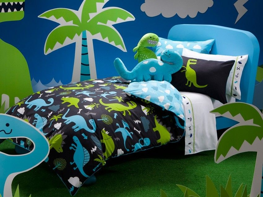 Dino Multi Quilt Cover Set By Kas Kids Children 39 S Bedding All Categories Dinosaur Toddler