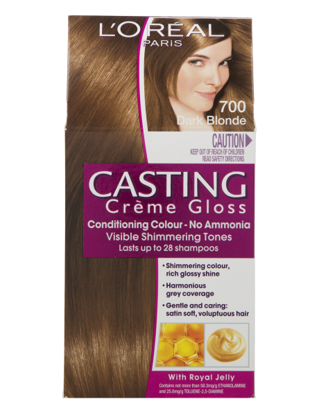 L Oreal Paris Casting Creme Gloss Dark Blonde 700 Product Photo Loreal Casting Creme Gloss Dark Blonde Hair Color