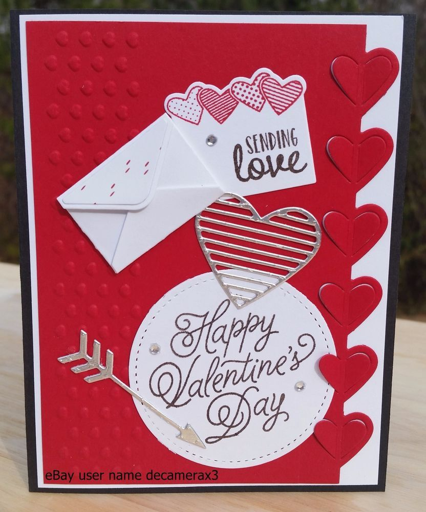 Valentine S Day Card Kit Set Of 4 Handmade Stampin Up Sealed