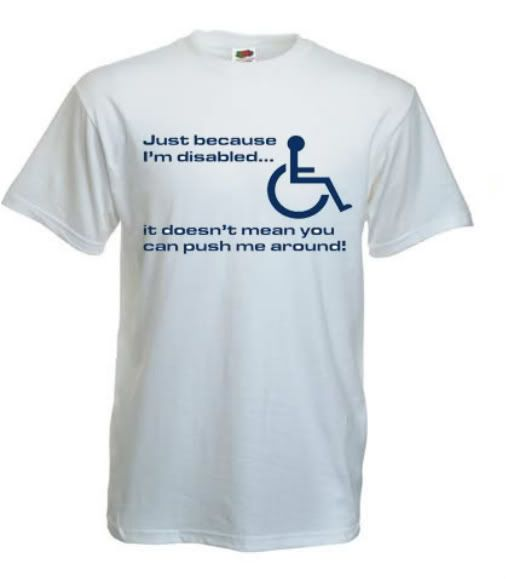 4f7c7151 funny disabled shirts | Cool-Funny-Disabled-Wheelchair-Joke-T-Shirt -Size-S-3XL