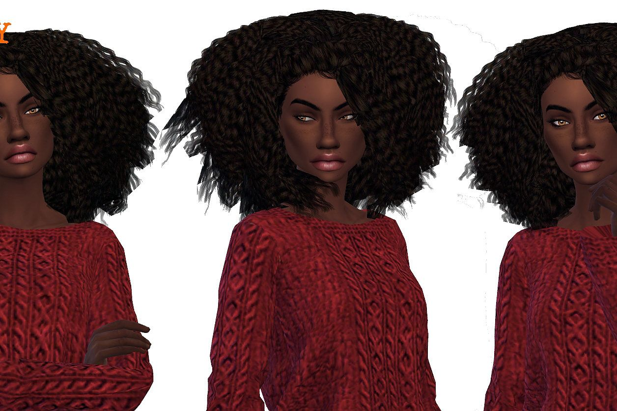 Whitley   website   Sims 9 curly hair, Womens hairstyles, Sims hair