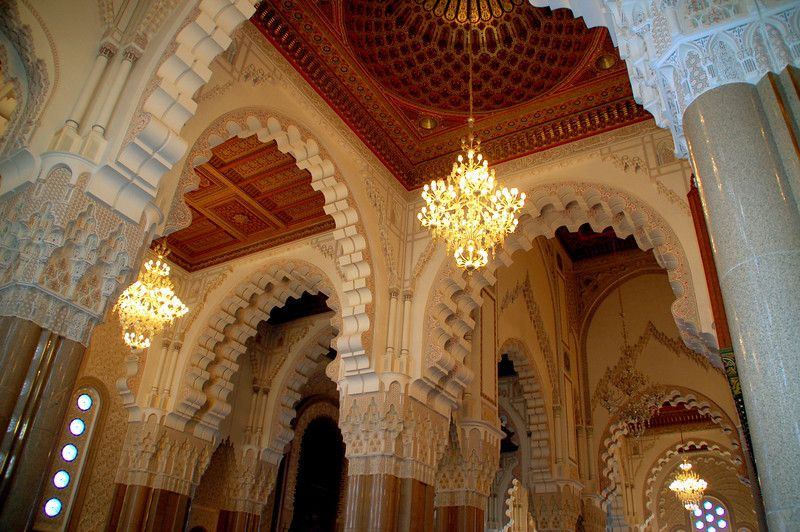 Hassan II mosque Casablanca Morocco a look at the arches
