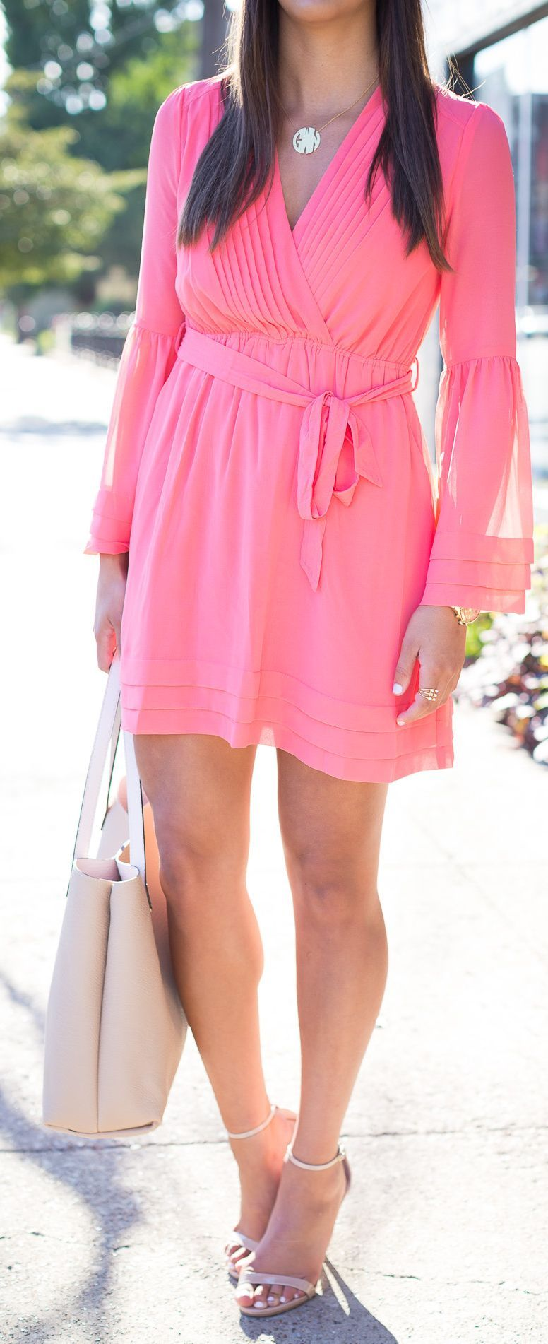 A Southern Drawl Pink Chiffon Dress