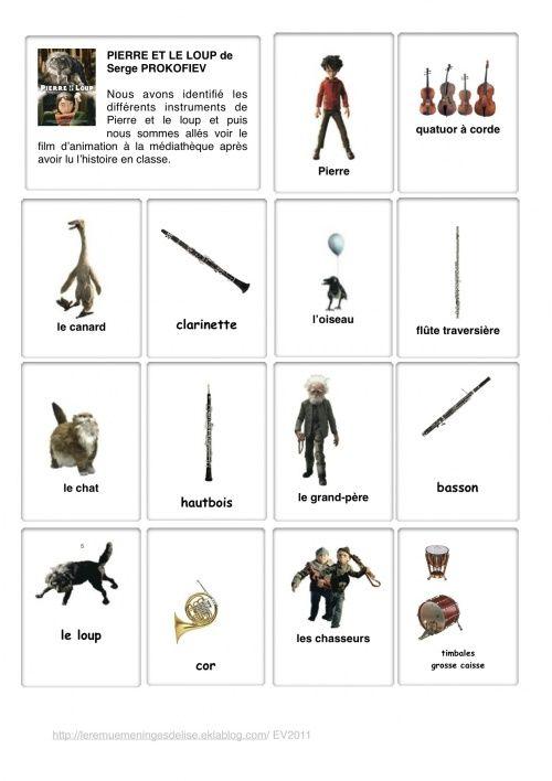 Pierre Et Le Loup Instruments : pierre, instruments, Pierre, Ideas, Teaching, Music,, Music, School,, Education