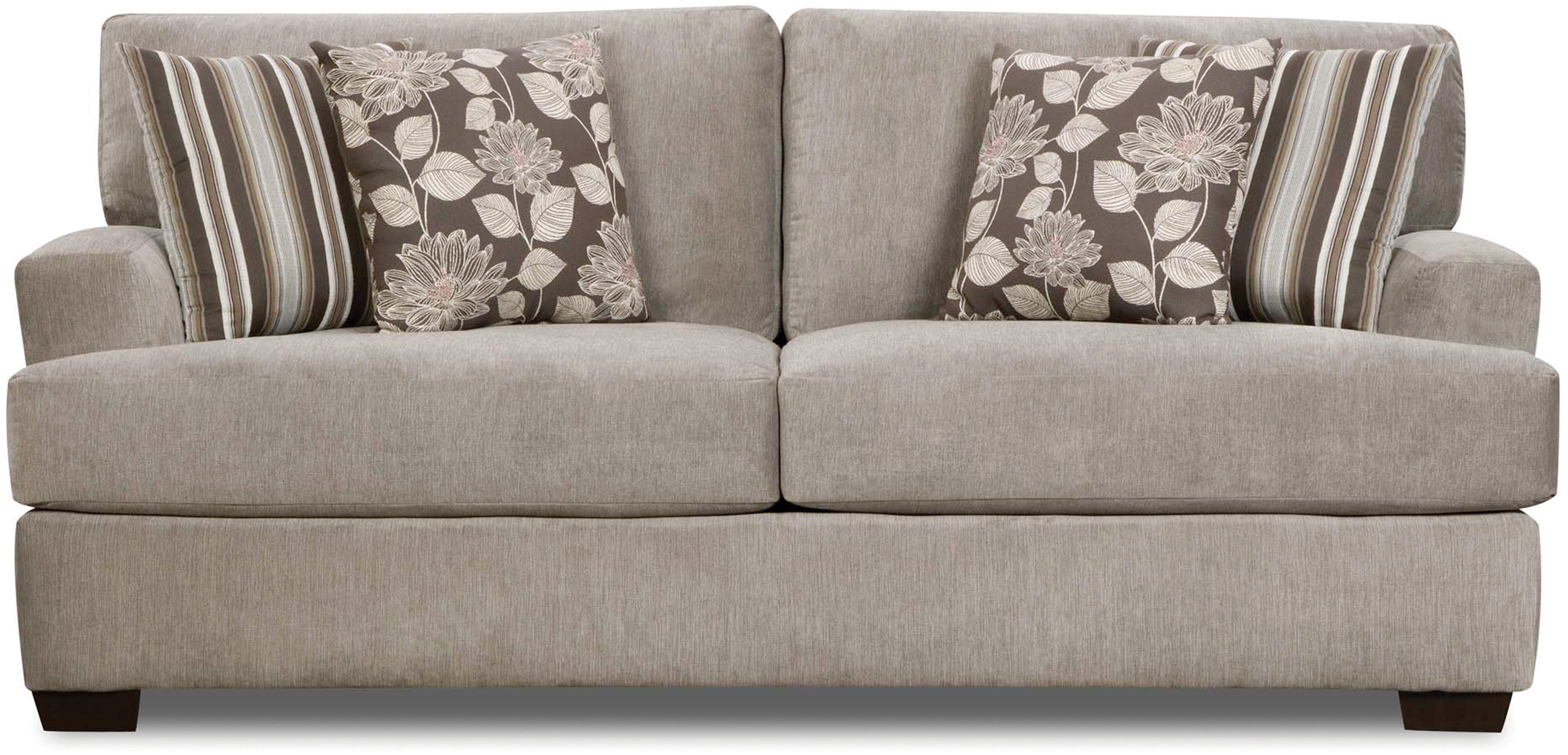 Corinthian Josephine Seal Sofa 041524 Front Room Furnishings Leather Sofa Standard Furniture