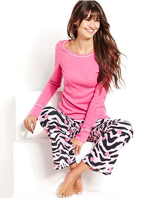 8c2bd9ca7ca5d Jenni Pajamas, Thermal Top and Printed Pajama Pants Set - Womens Pajama Sets  & Separates - Macy's