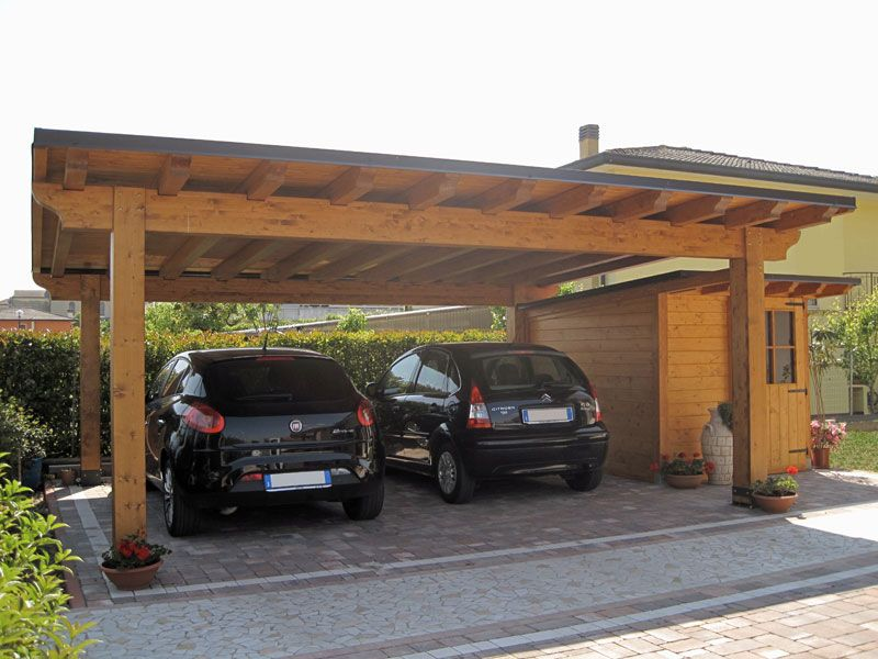 Artigiana coperture foto e immagini di strutture for Due box auto indipendenti