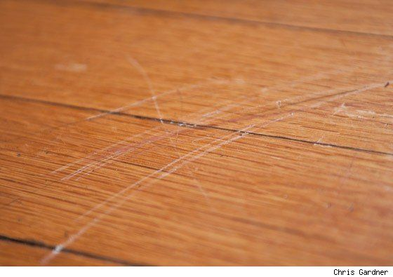 How do I remove scratch marks from hardwood flooring Answer Yes