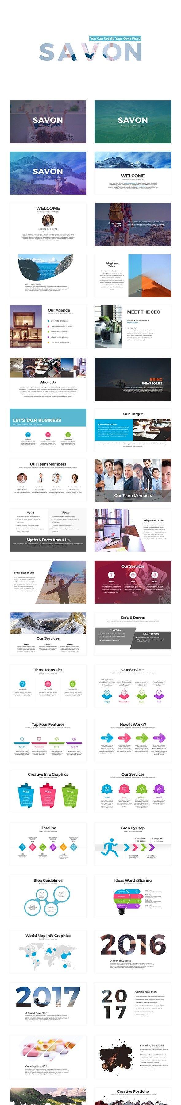 Savon Powerpoint Presentation Template Pinterest