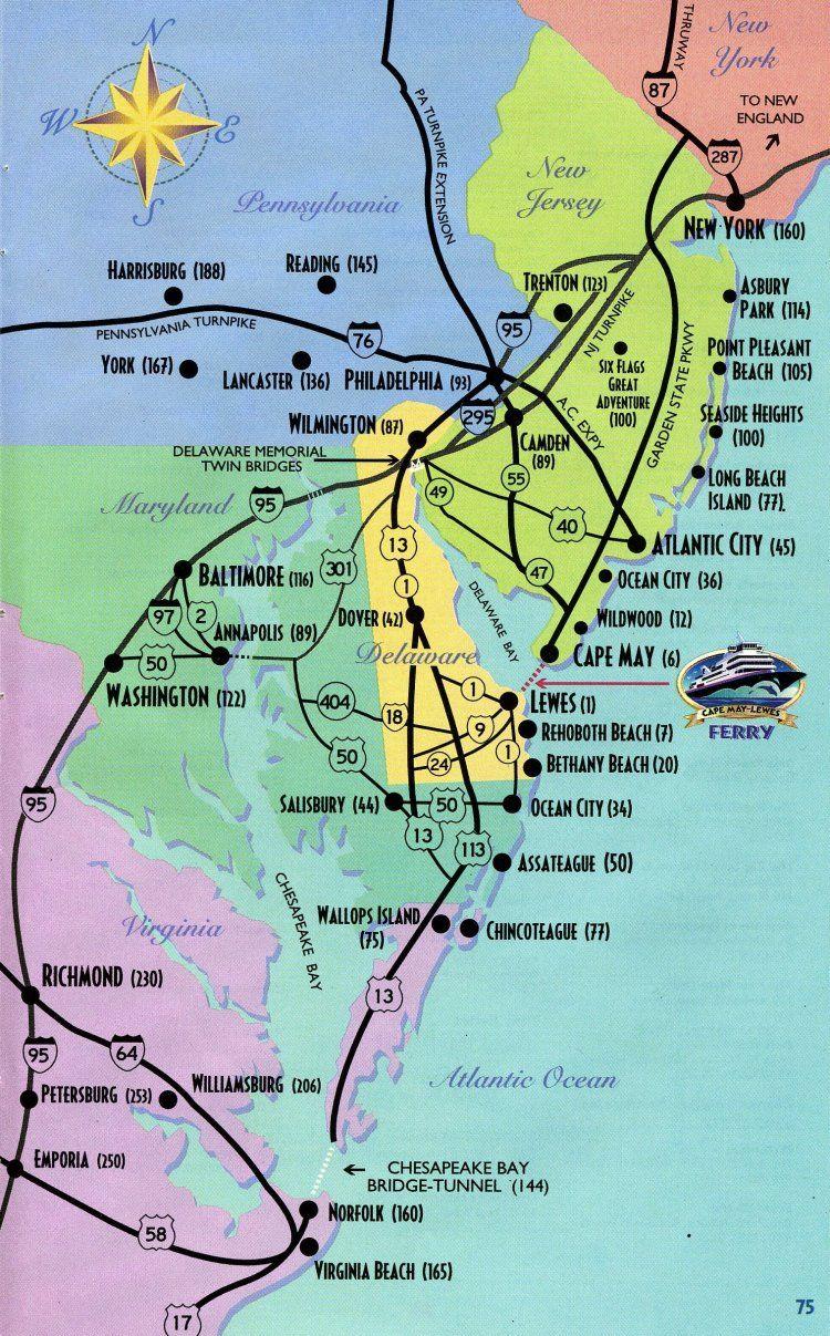 Cape May Map , je reviens de cette magnifique endroit !!! Et ça ne Cape May Nj Map on