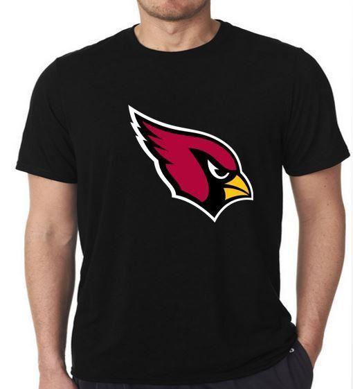 NFL Arizona Cardinals Logo Design Black T-Shirt Large size