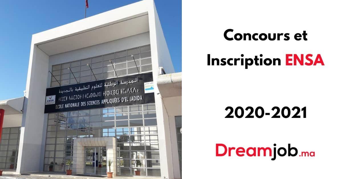 Inscription Concours Ensa 2020 2021 Resultats Inscription Concours Sciences Appliquees Sciences Mathematiques