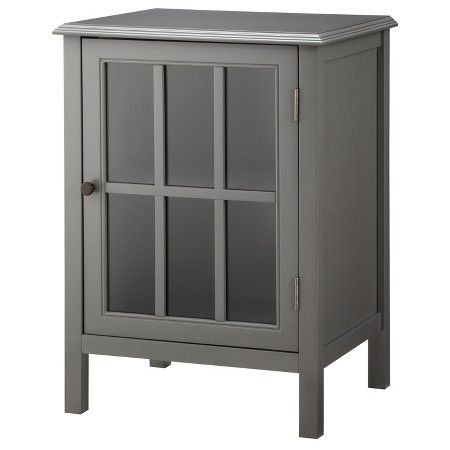 Windham One-Door Storage Cabinet Black - Threshold™ : Target ...