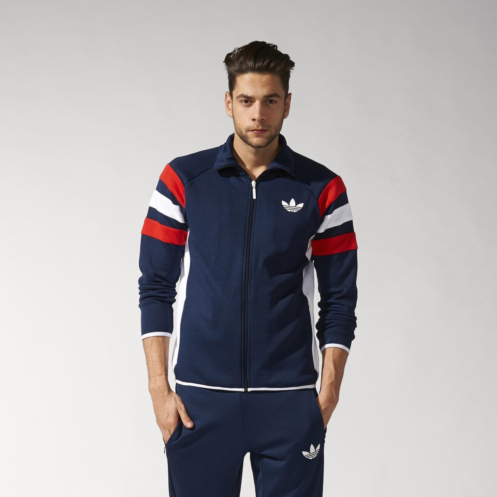 Adidas Originals ID96 Zip Through Jacket Blue Mens | Goxip