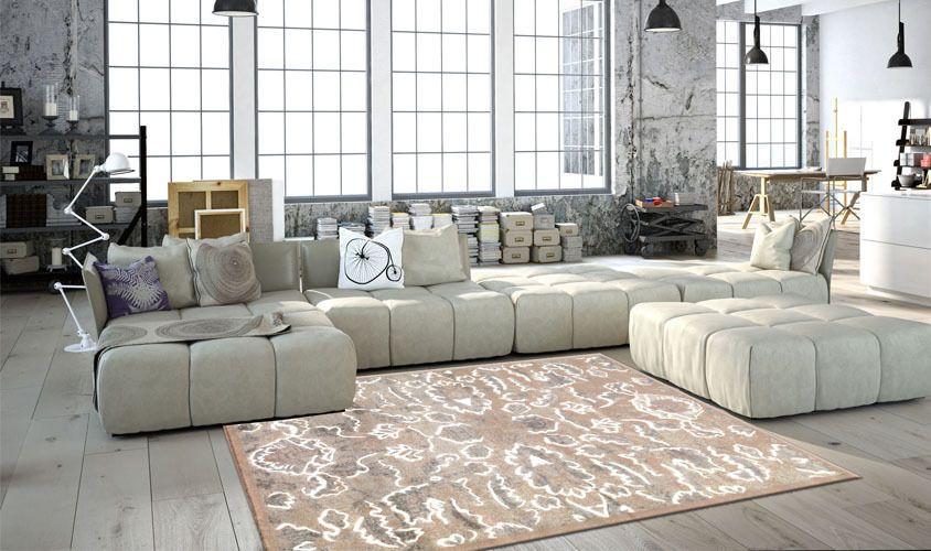 w617 tappeti moderni effetto slavato - tappeti vintage eleganti ... - Arredamento Casa Moderno Economico