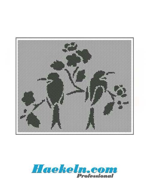 Häkeln Filethäkelvorlage Baum Vögel Anleitung Filethäkeln