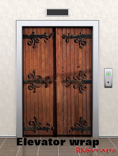 """Elevator Castle door wrap 46817558 Average one door elevator is 84"""" x 42"""" Contact Rm wraps Have a question or issue? Need help wrapping your product? Randy Miller 208-696-1180 Monday - Friday , 8 am -"""