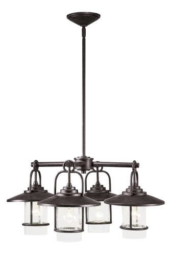 Patriot lighting elegant home miner bronze 4 light chandelier at menards