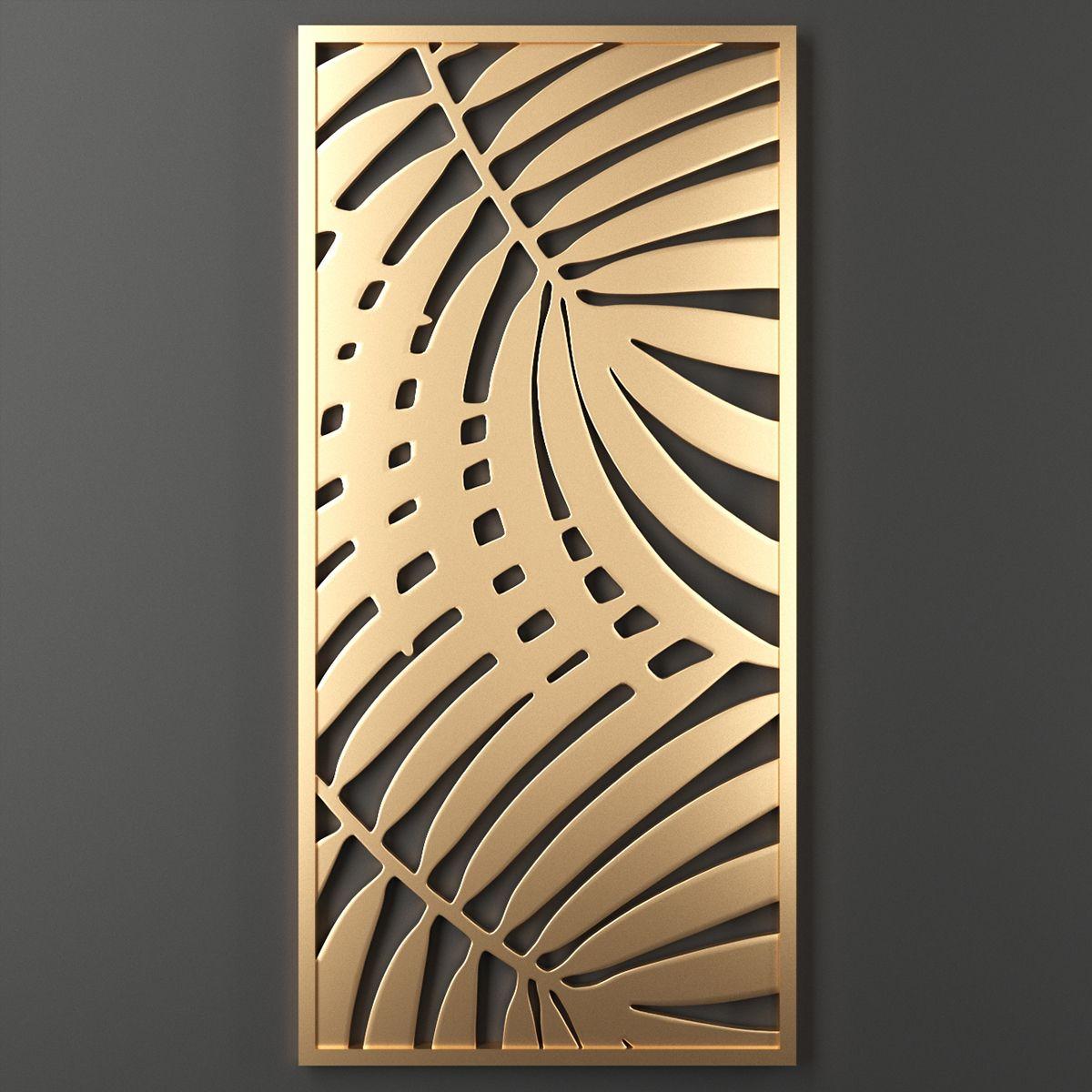 3d Decorative Panel Model Turbosquid 1352956 In 2020 Decorative Panels Decorative Metal Screen Lasercut Design
