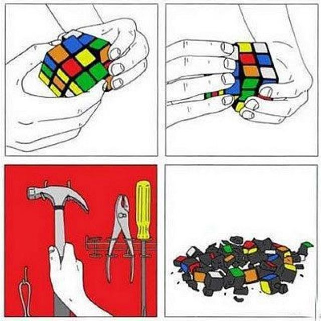 Finally, the solution to Rubik's Cube Best funny