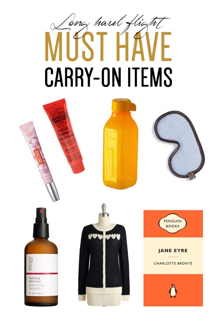 Travelling overseas? These are your must have carry-on items for long haul flights. Carry on items luggage, how to pack a small bag for flight, what I carry in my bag on flights.