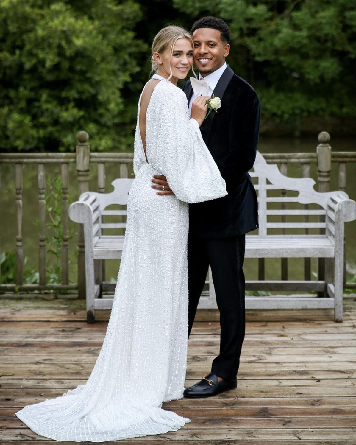 Asos Edition Ciara Sequin Kimono Sleeve Wedding Dress White Myonewedding Co Uk In 2020 Wedding Dresses Asos Wedding Dress Real Brides Wedding Dresses