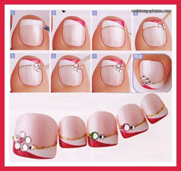 simple nail art designs for feet easy