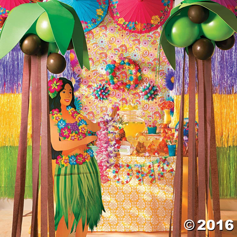 Balloon Crepe Palm Trees Idea