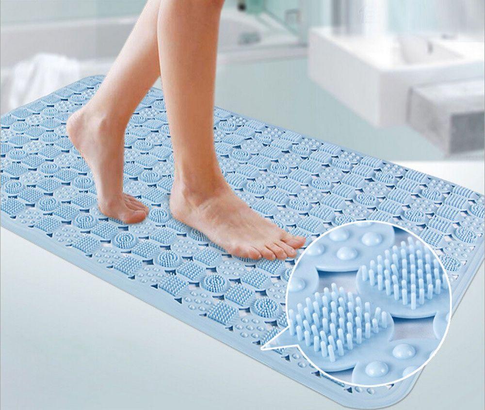 safety bath mats shower tub non slip bathtub mat rug ebay wenko ...