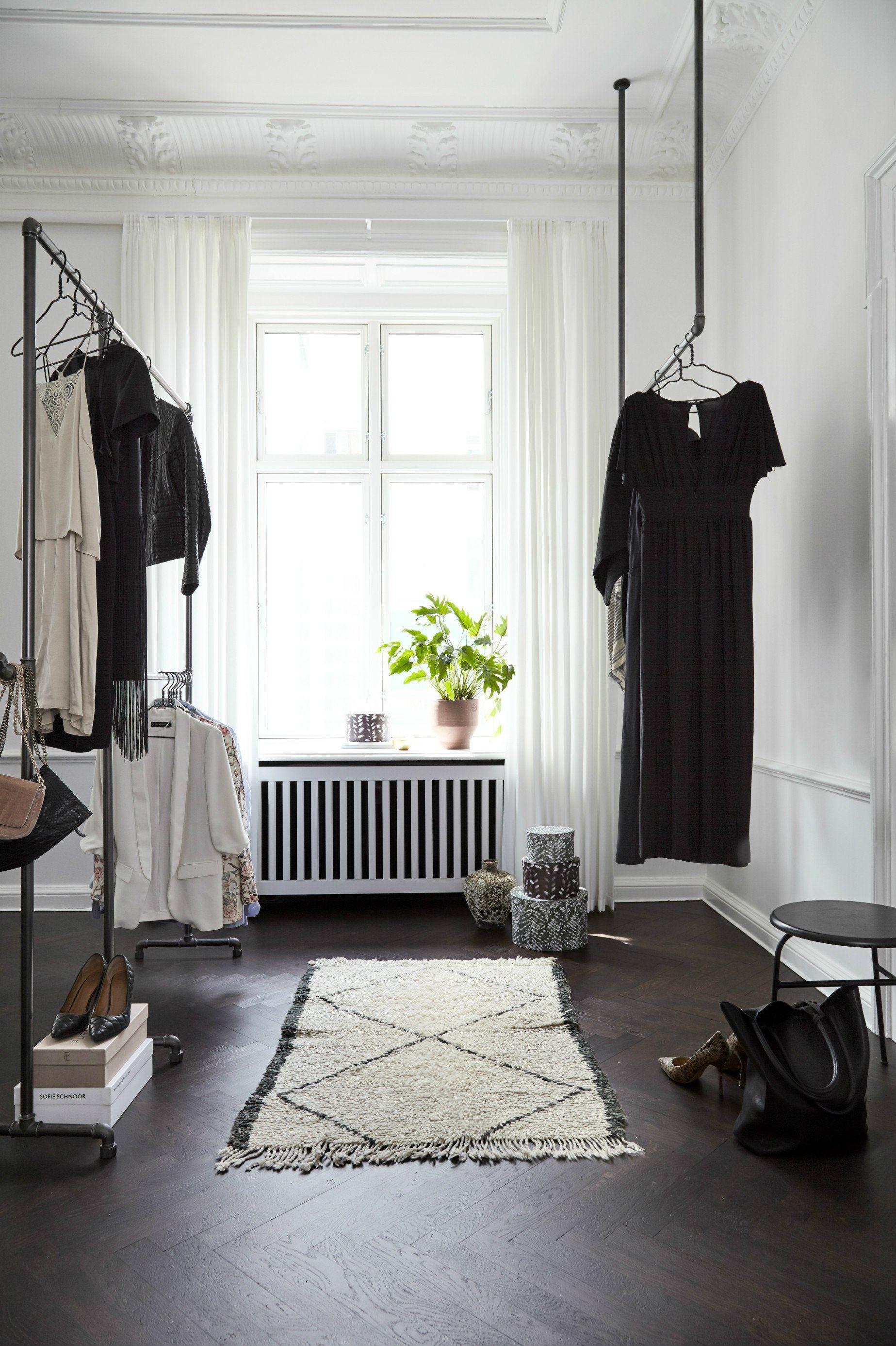 Walkin closet with rackbuddy clothes racks beauty interior