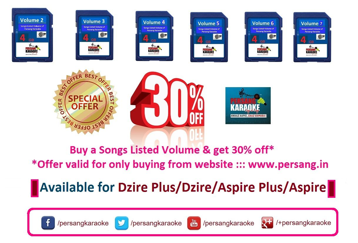 """Buy a selected """"Songs Listed Volume"""" & get 30% off* - *Offer available for only buying from the website ::: www.persang.in (Terms and Condition Apply)"""