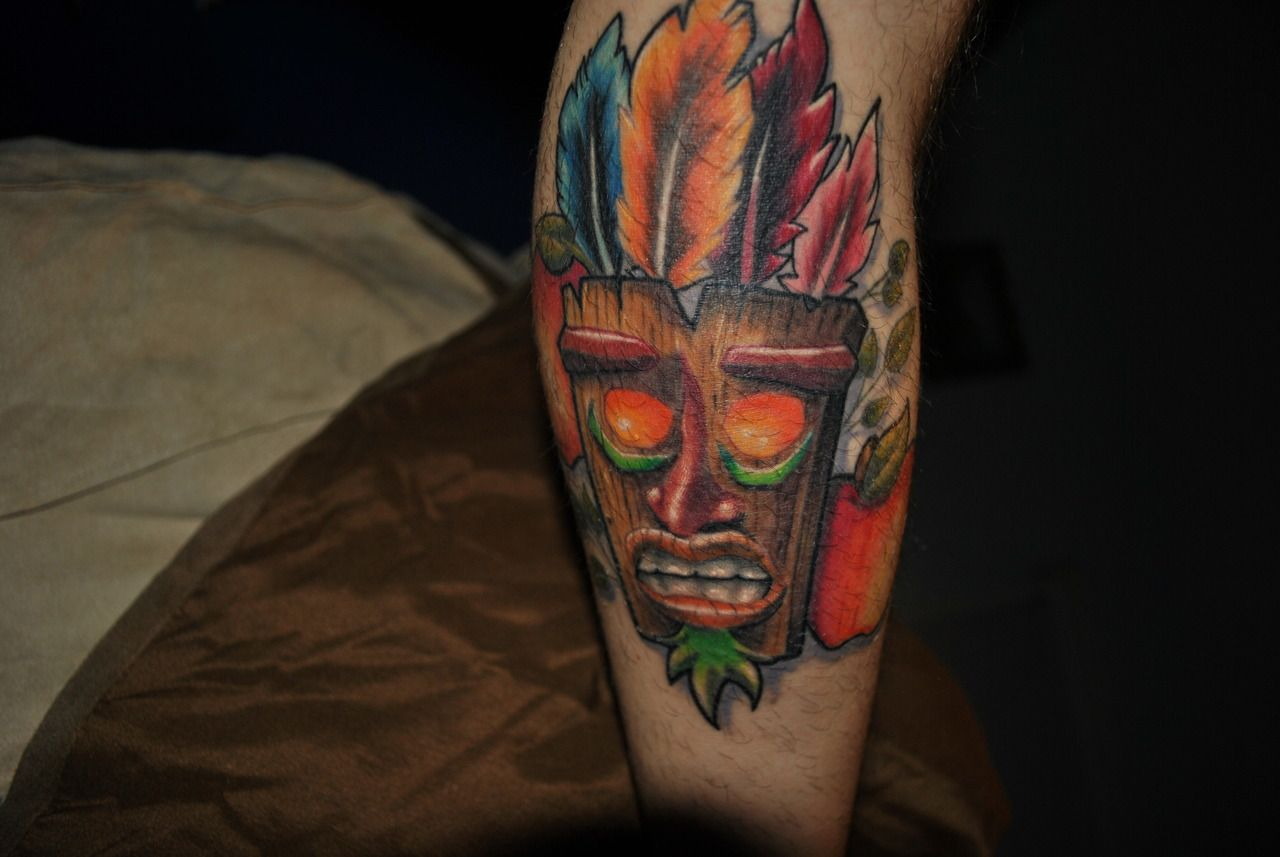 I got this from Undead Ink in NY because growing up, I was in love with video games, (still am) mostly the original playstation 1, and the Crash Bandicoot series was my absolute favorite.  Its on the back of my left calf, and I'm getting Uka Uka on my opposite calf sometime soon :)
