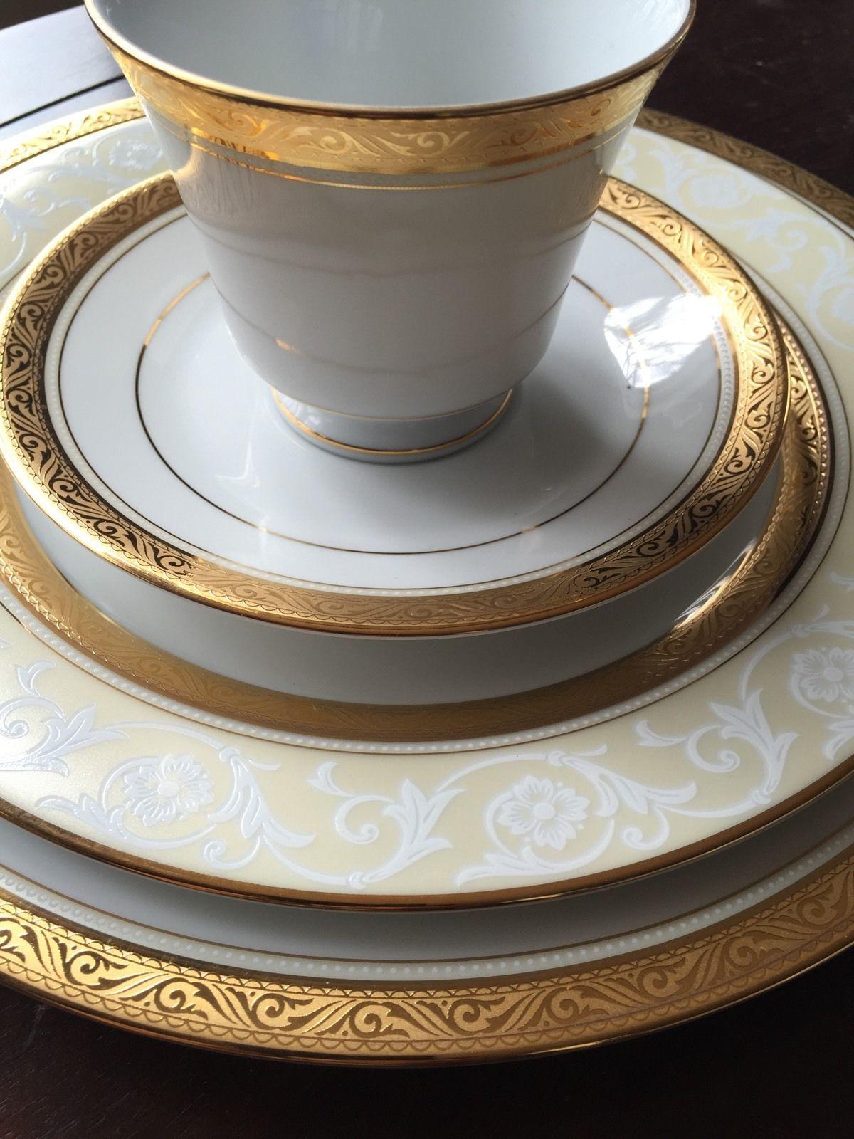 Noritake China Majestic Gold 36 Pcs 8 Place Settings picclick.com & Noritake China Majestic Gold 36 Pcs 8 Place Settings | Noritake ...