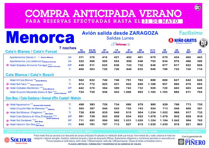 Hasta 30% Compra Anticipada. Hoteles en MENORCA salidas desde Zaragoza ultimo minuto - http://zocotours.com/hasta-30-compra-anticipada-hoteles-en-menorca-salidas-desde-zaragoza-ultimo-minuto/
