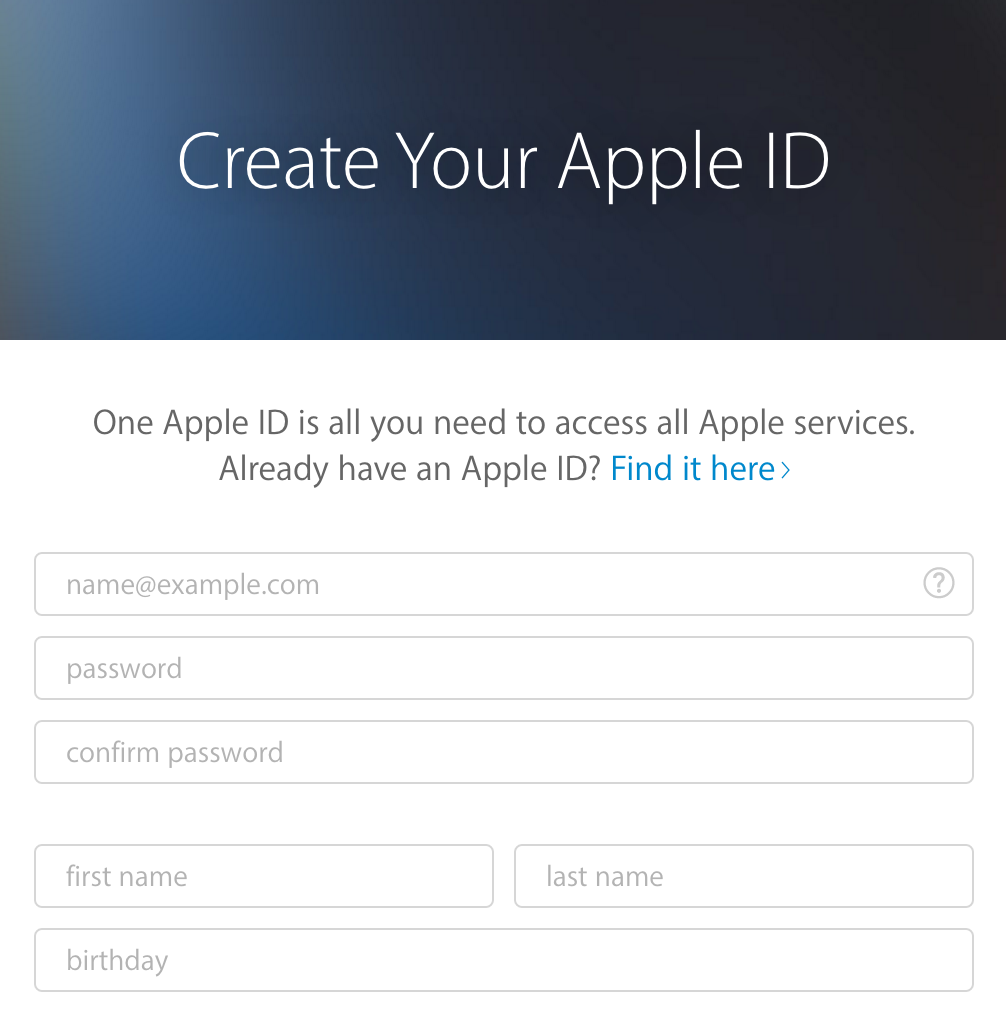 How Do You Create Apple Id Apple Service Download App Apple