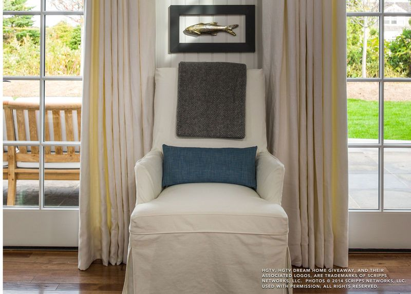 Dayton Slipcovered Chair, Bronco/White