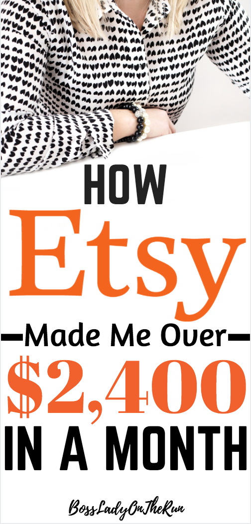 How I made over $2,400 on Etsy in only 30 Days! | Extra money, Earn ...