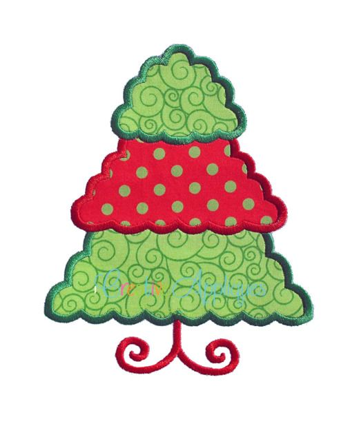 Scallop christmas tree applique christmas embroidery applique page 2 applique design embroidery designs embroidery fonts svg cutting files spiritdancerdesigns Gallery