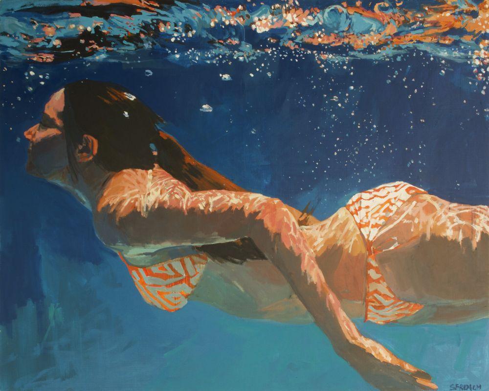 underwater painting of people by houston - 721×577