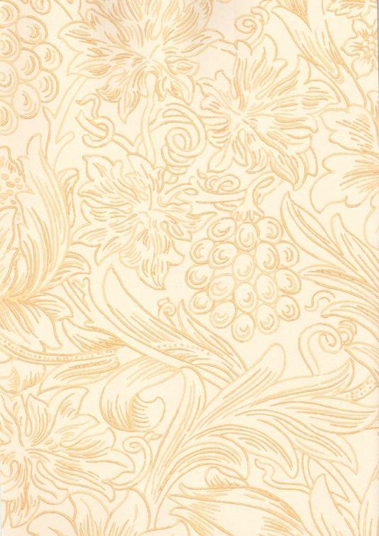 Sunflower Etch Wallpaper Floral Design In Golden Yellow On Cream