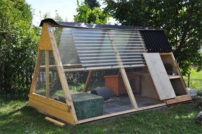 Construction d 39 un habitat ext rieur permanent pour lapin for Cabane pour lapin exterieur